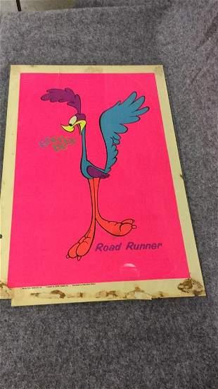 Vintage 1970 Road Runner Poster