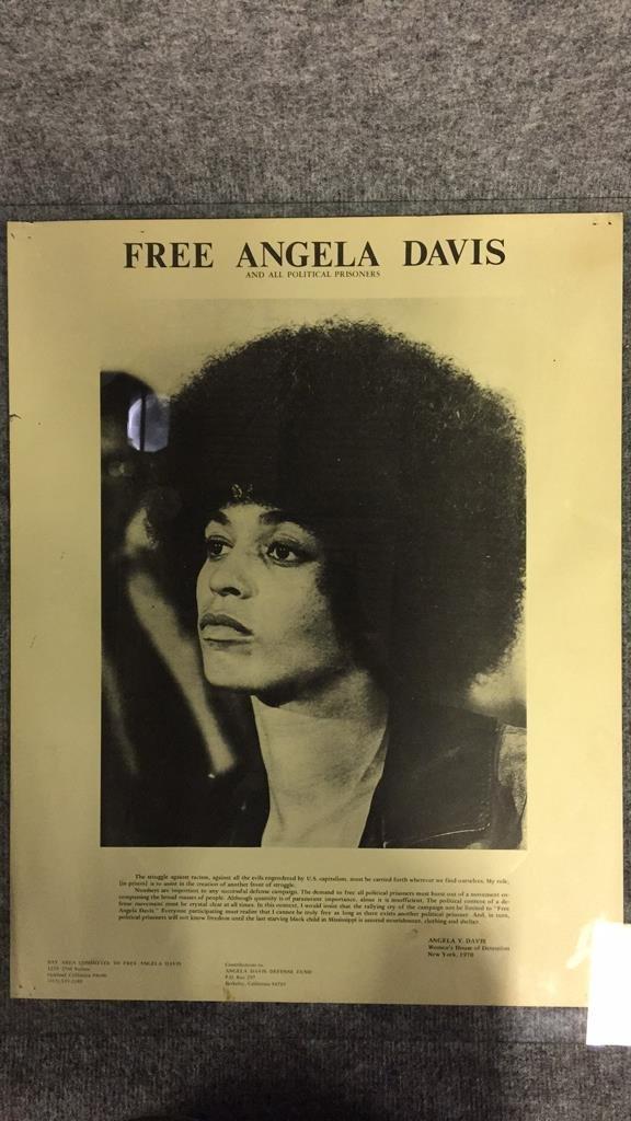 1970 Free Angela Davis Political Prisoner Poster