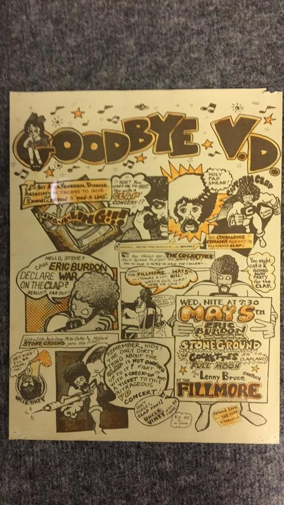 1971 Goodbye VD Benefit Poster