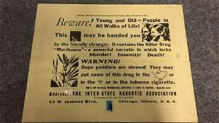"Vintage ""Marihuana"" Propaganda Poster"