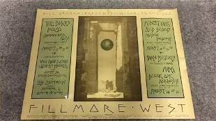 1970 Fillmore West Bill Graham Concerts Poster.