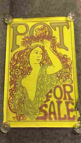 1960s Psychedelic Pot For Sale Poster