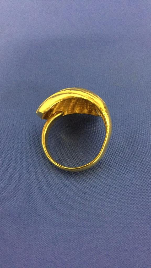 Lalaounis 18k Gold Clam Shell Ring - 4