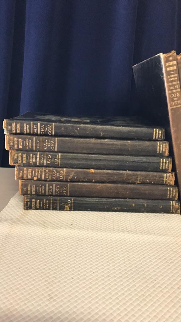 Encyclopedia Britannica set circa 1910 - 3