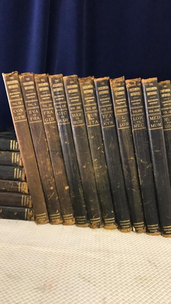 Encyclopedia Britannica set circa 1910 - 4