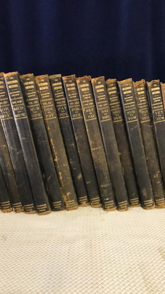 Encyclopedia Britannica set circa 1910 - 5