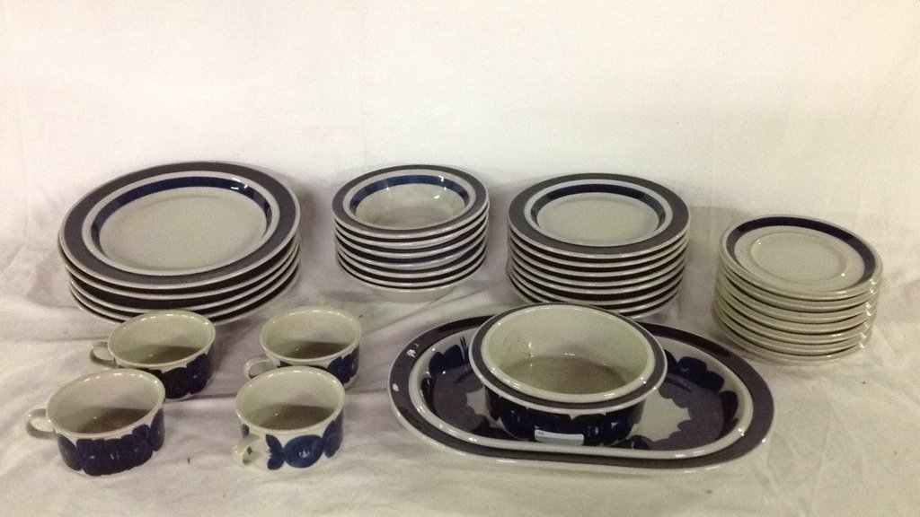 Anemone blue Arabia Finland dishes