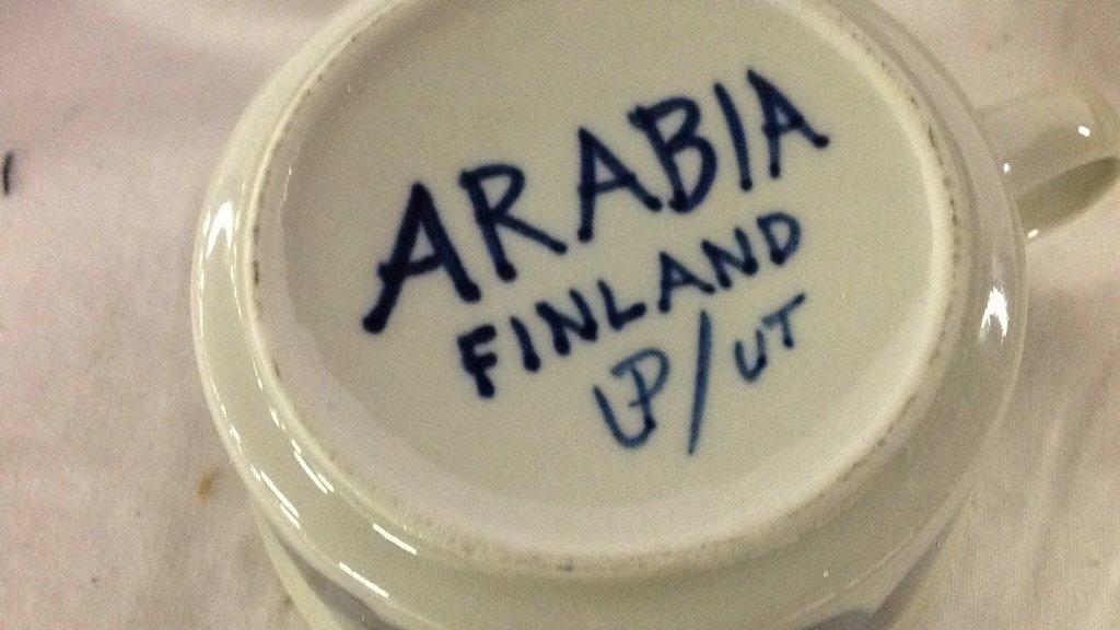 Anemone blue Arabia Finland dishes - 4