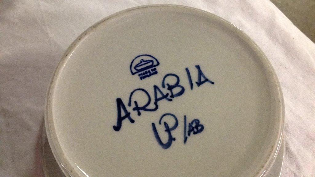 Anemone blue Arabia Finland dishes - 5