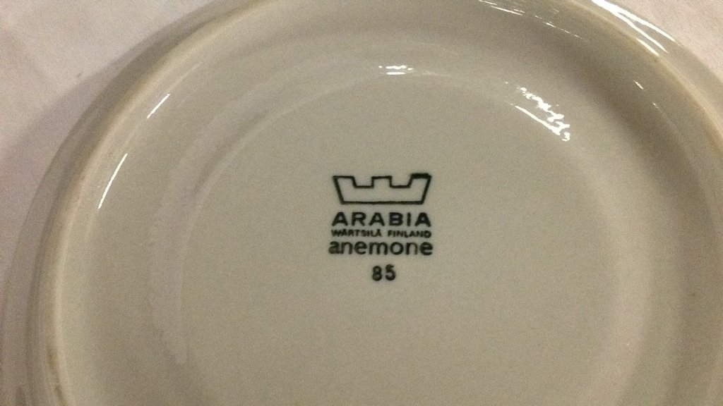 Anemone blue Arabia Finland dishes - 6