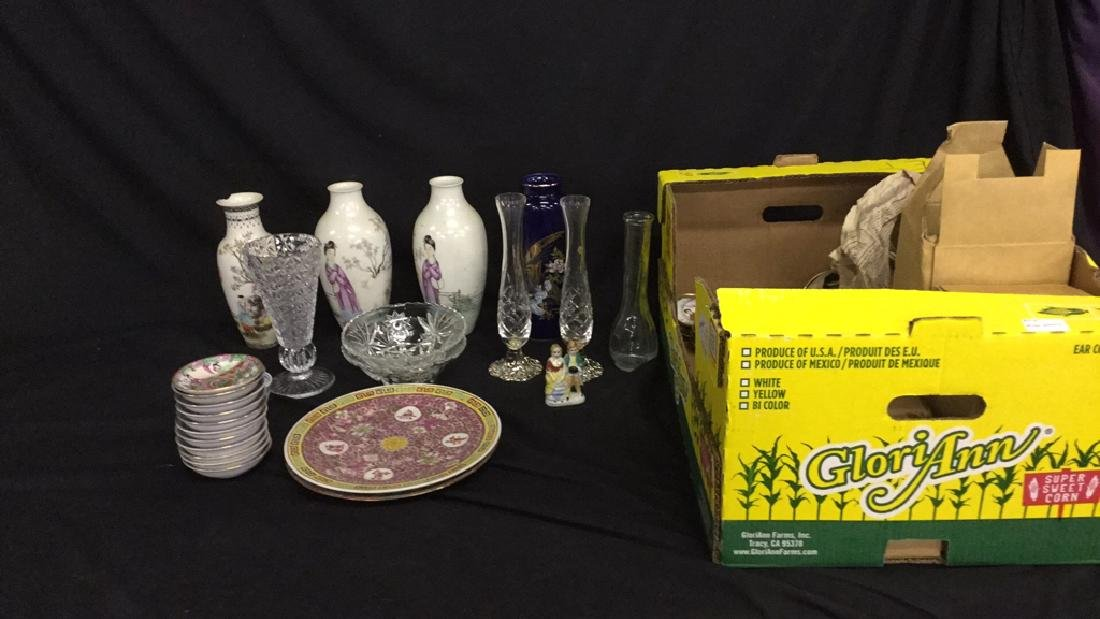 Large Lot of Asian dishes and vases