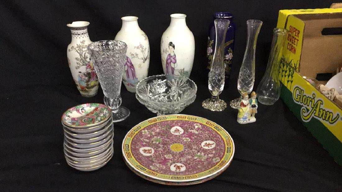 Large Lot of Asian dishes and vases - 2