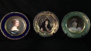 Three Fine Decorated Plates