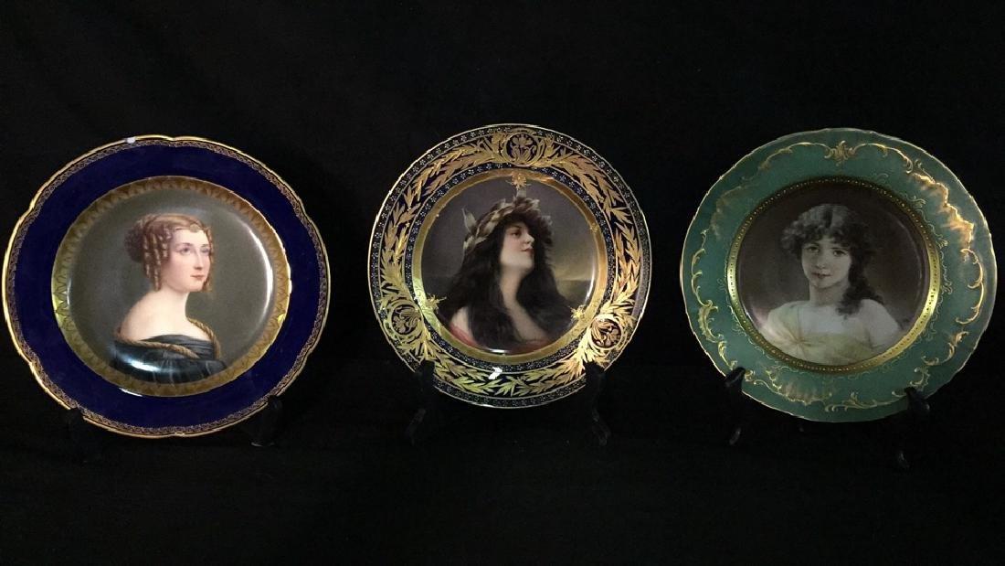 Three Fine Decorated Plates