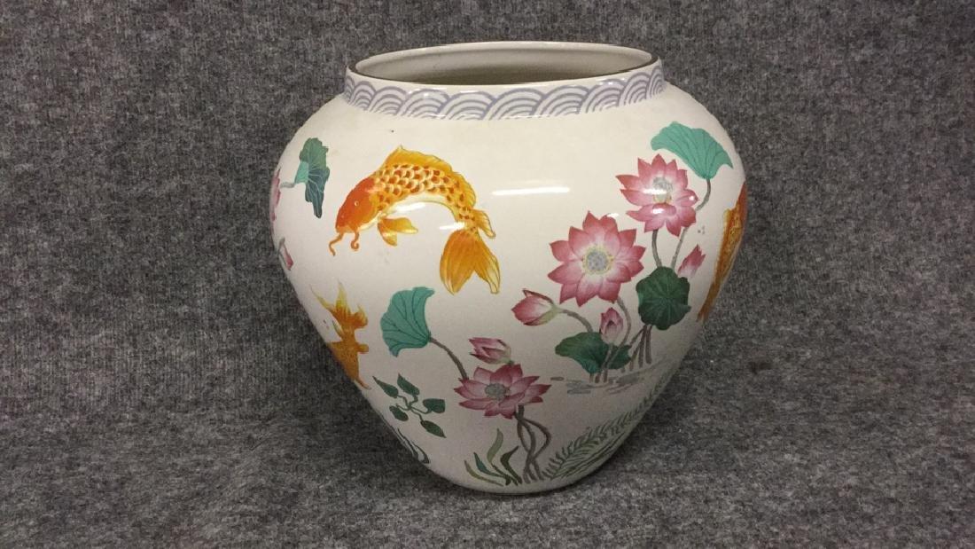The vase of the golden carp by Zhe Zhou Jian