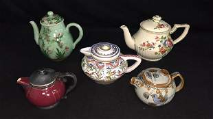 Lot of Fine Tea Pots