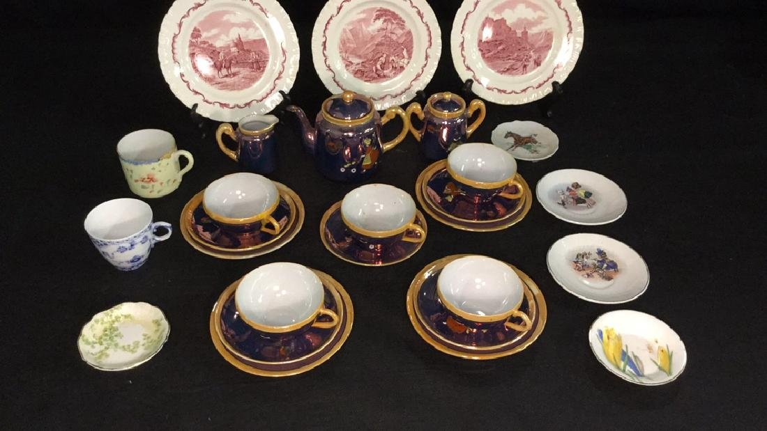 Lot of Assorted Plates and Child's Tea Service