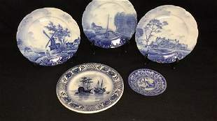 Lot of R.C. Delft Louis XIV Plates and Misc.