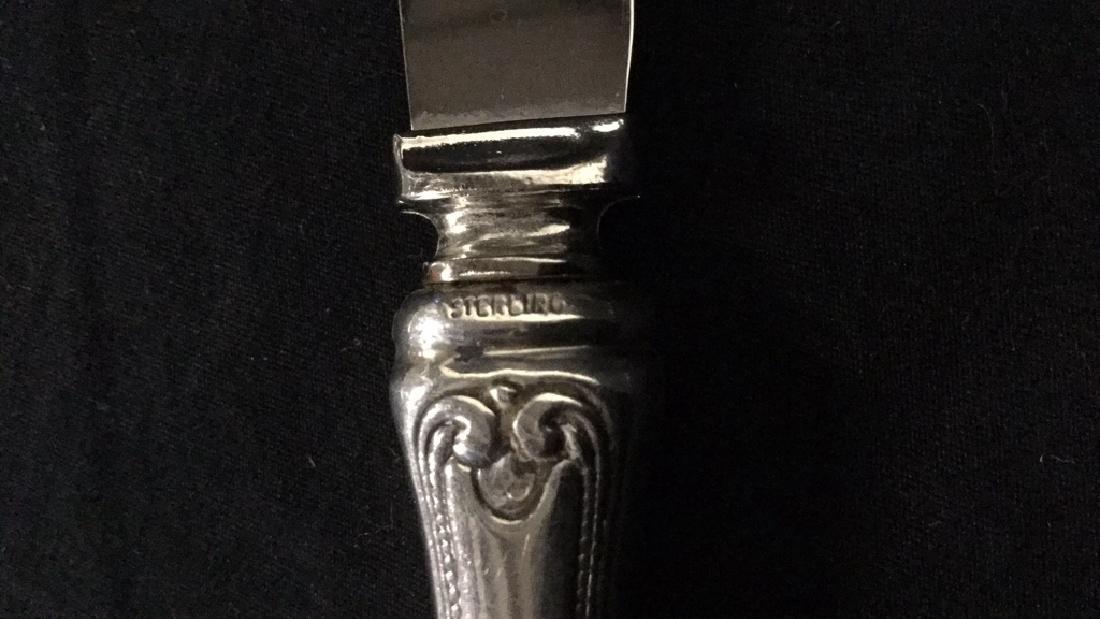 Lot of 5 Royal Crest Sterling Steak Knives - 3