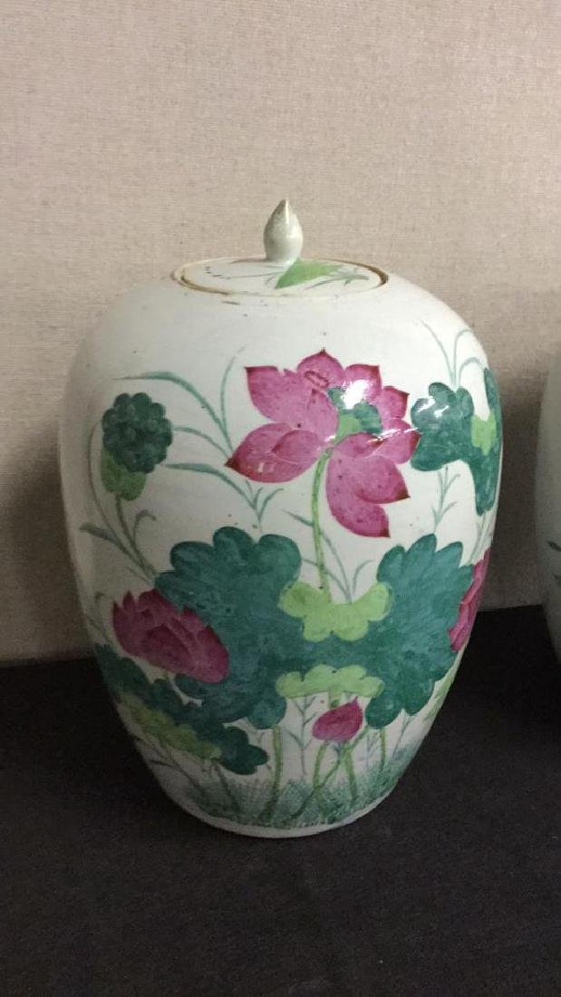 Two painted Asian earthenware jars - 2