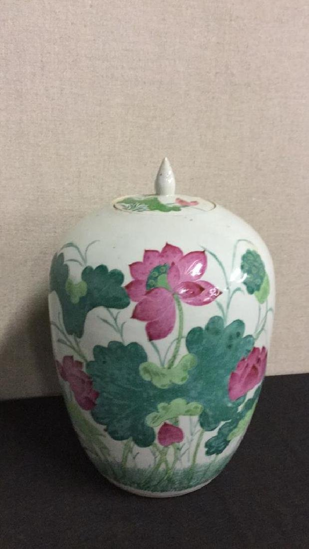 Two painted Asian earthenware jars - 3