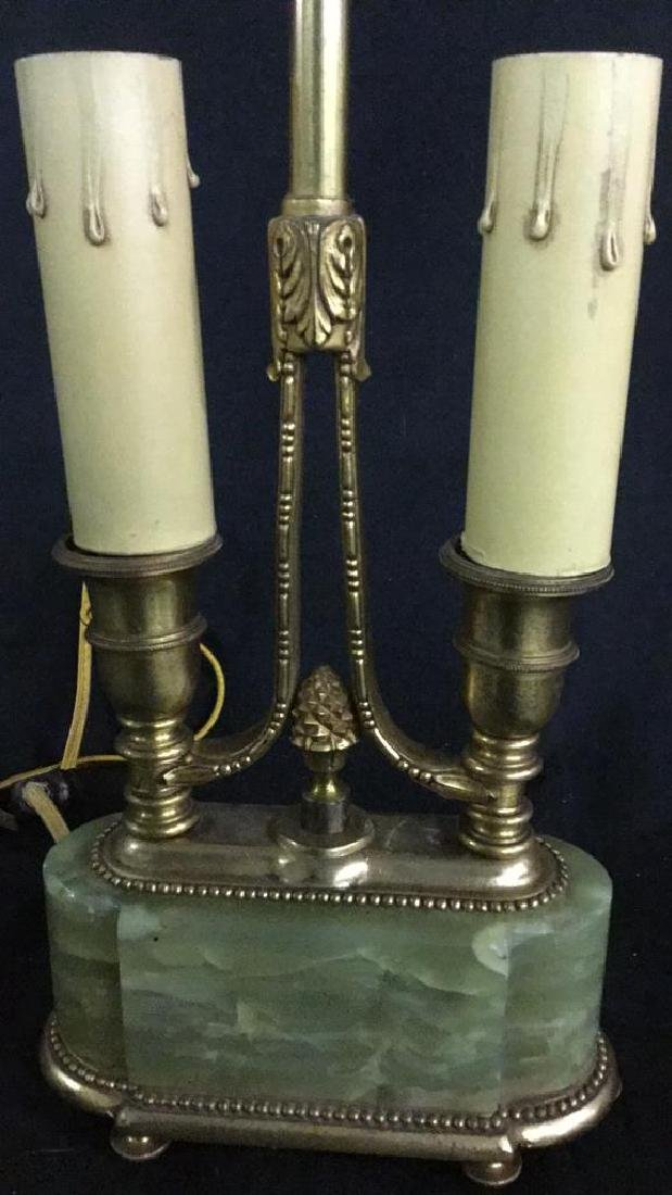 Lamp with marble base and ink set - 4