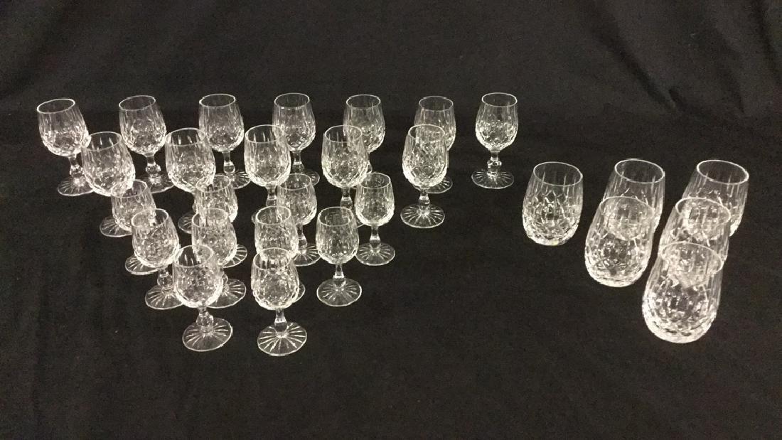 Lot of Webb Corbett Crystal glasses