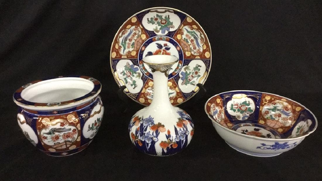 4 Pcs. Gold Imari Hand Painted Collectibles