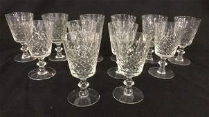 Set of 12 Cut Crystal Stemware