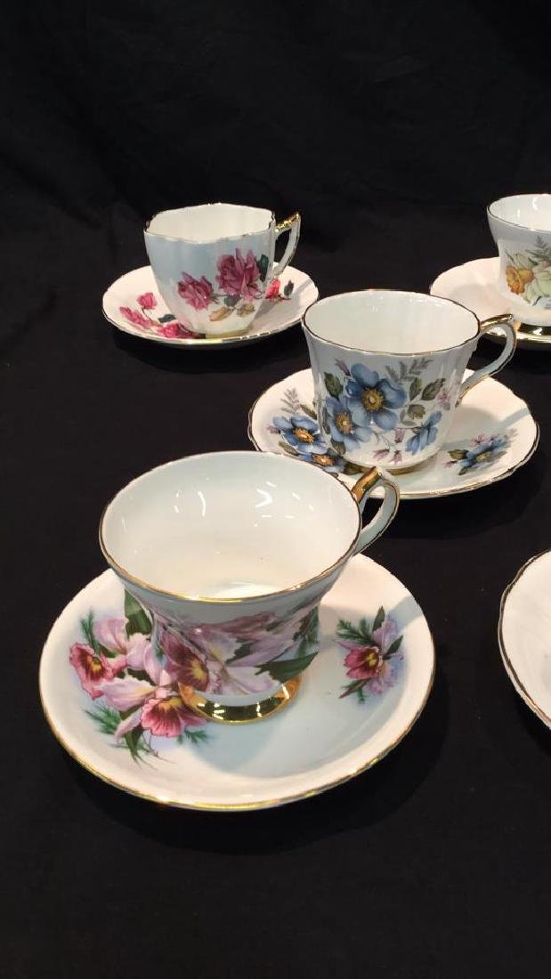 9 sets Royal Victoria Floral Cups And Saucers - 2