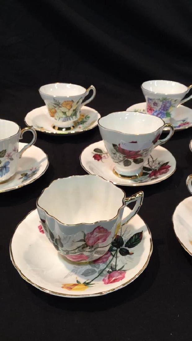9 sets Royal Victoria Floral Cups And Saucers - 3