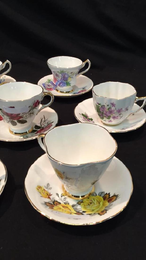 9 sets Royal Victoria Floral Cups And Saucers - 4