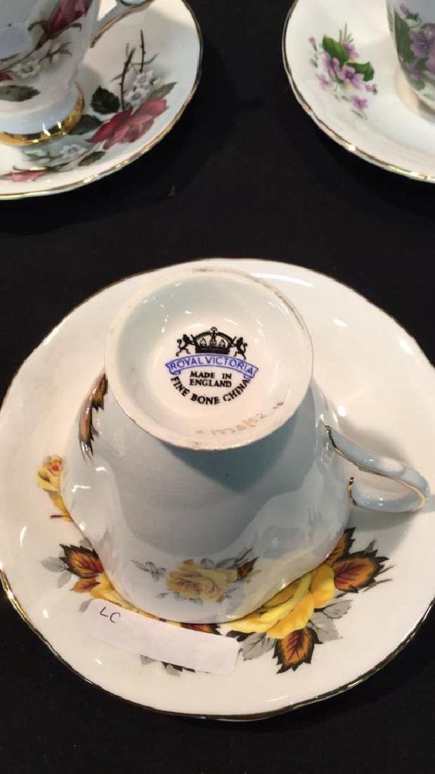 9 sets Royal Victoria Floral Cups And Saucers - 5