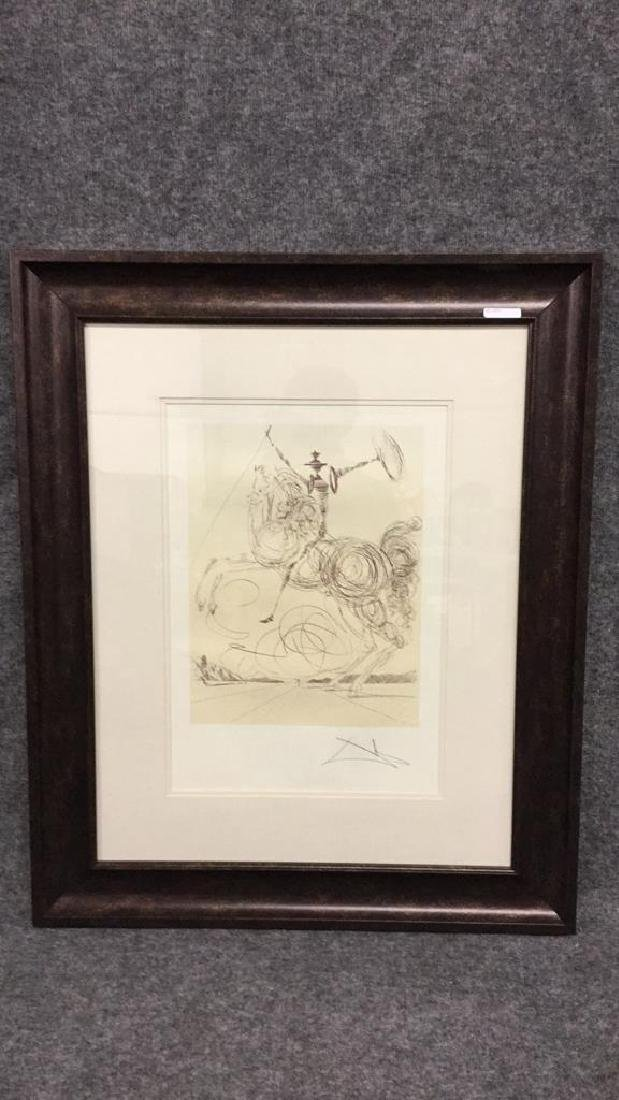 Don Quixote by Salvador Dali lithograph
