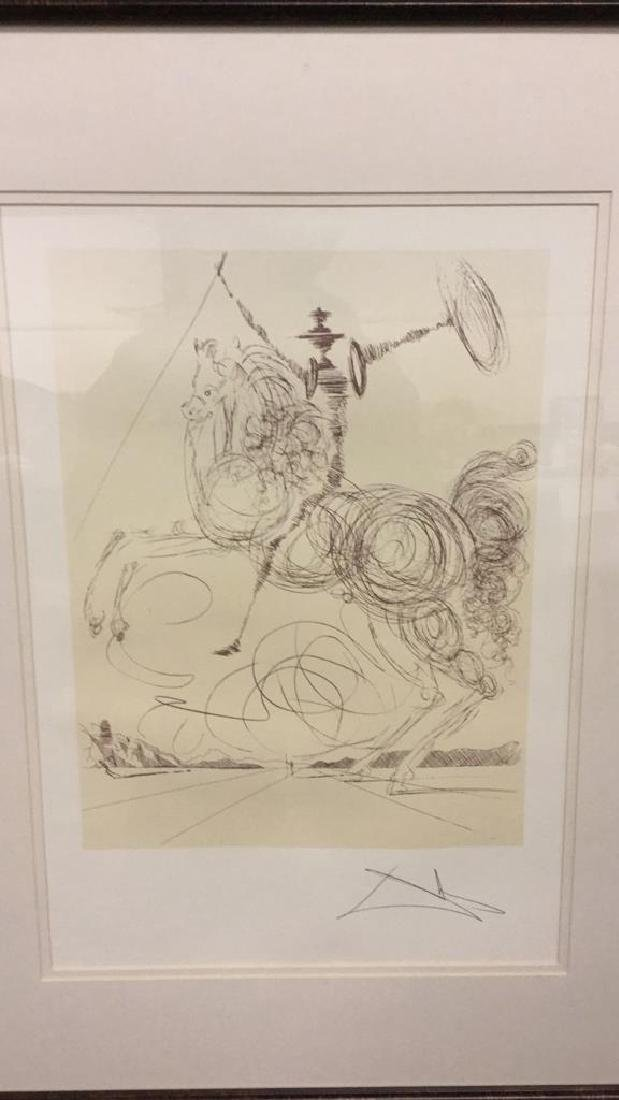 Don Quixote by Salvador Dali lithograph - 2