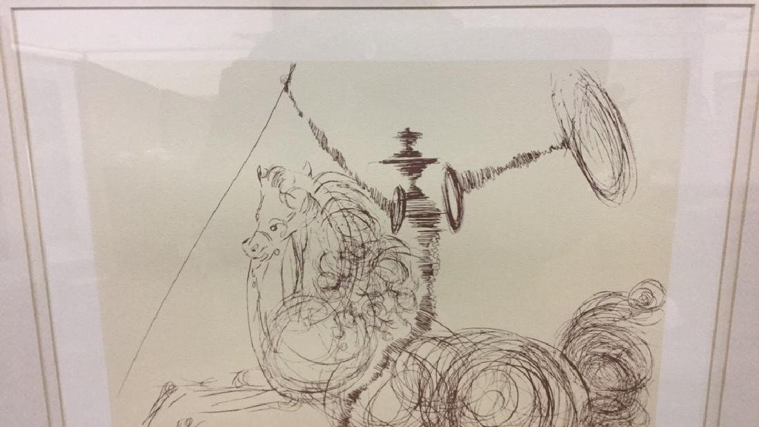 Don Quixote by Salvador Dali lithograph - 4