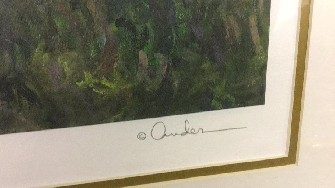 Signed impressionist print of lilies 81/400 - 3