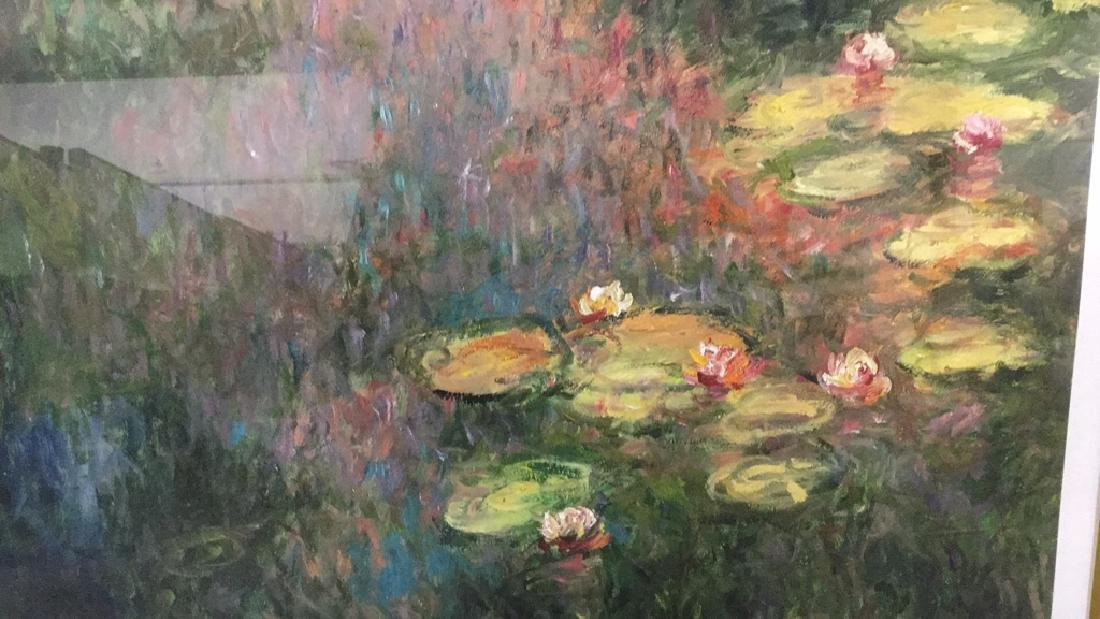 Signed impressionist print of lilies 81/400 - 5