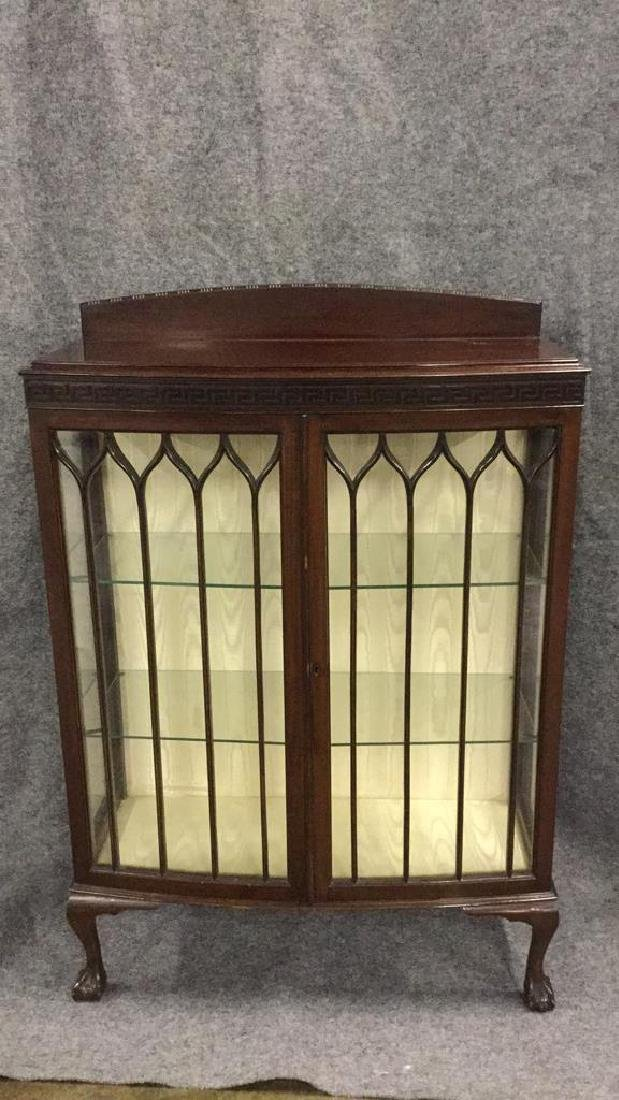 Glass front mahogany display cabinet