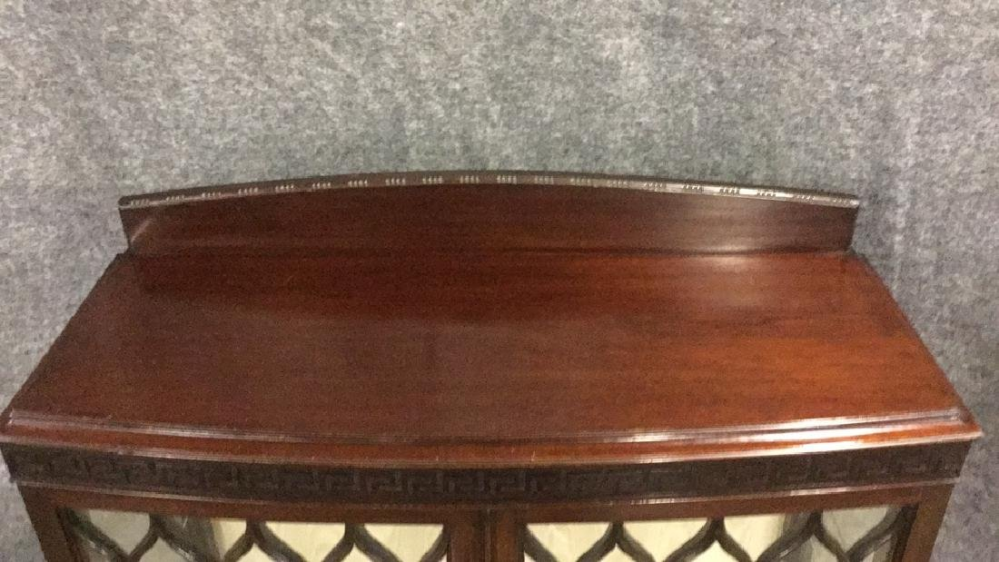 Glass front mahogany display cabinet - 2