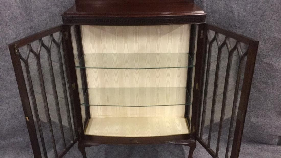 Glass front mahogany display cabinet - 3