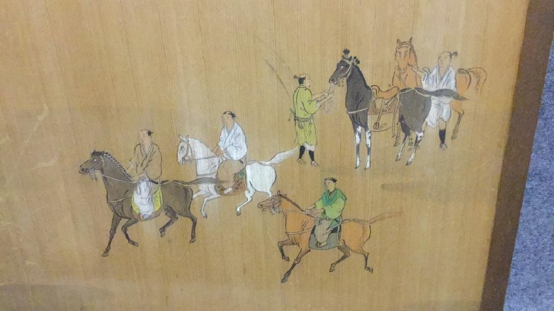 Asian summer screen with horse riders - 2