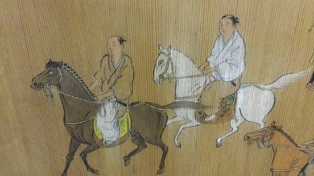 Asian summer screen with horse riders - 3