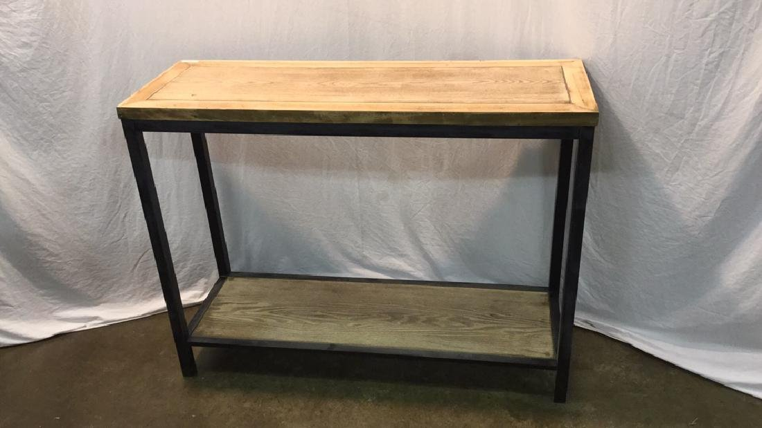 Modern style metal and pine washed entry table