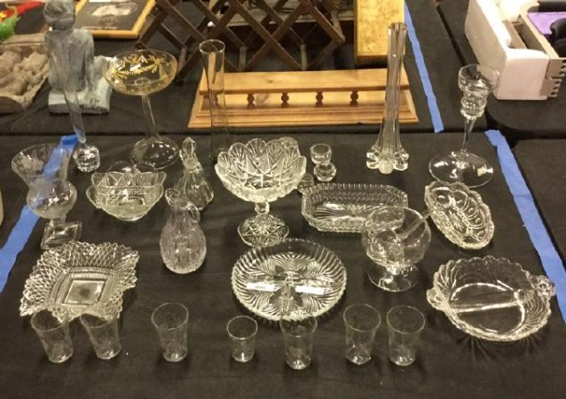 Large Lot of glassware and Crystal