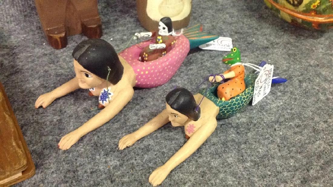 Lot of  figurines & vintage Nesting eggs - 2