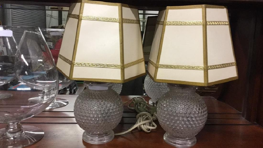 2 Glass based lamps and two vases - 2