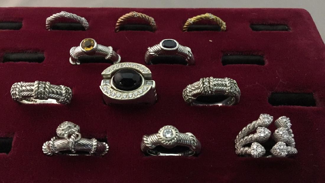 Lot of Judith Ripka Rings