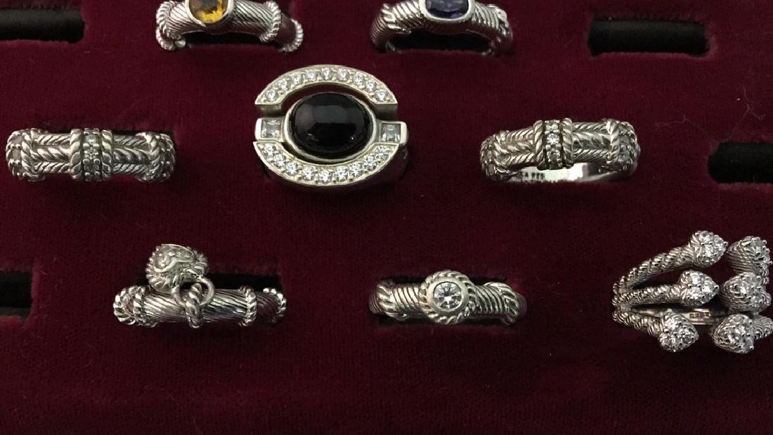 Lot of Judith Ripka Rings - 3