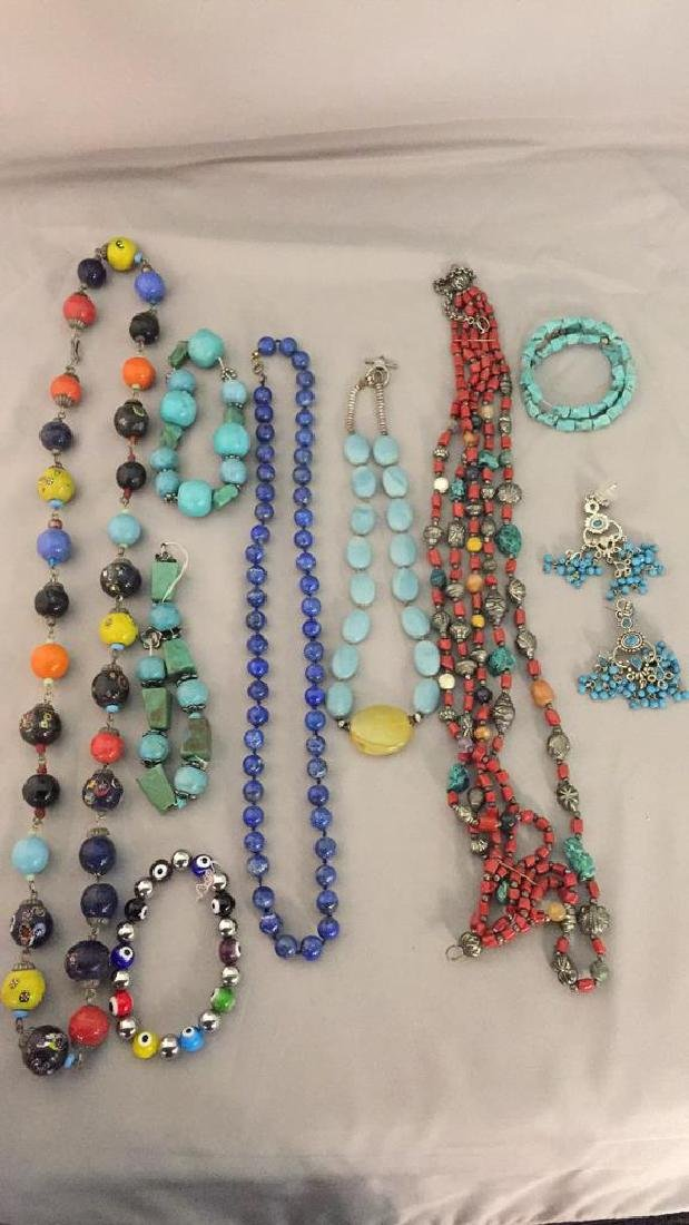 Lot of Stone Necklaces and Jewelry